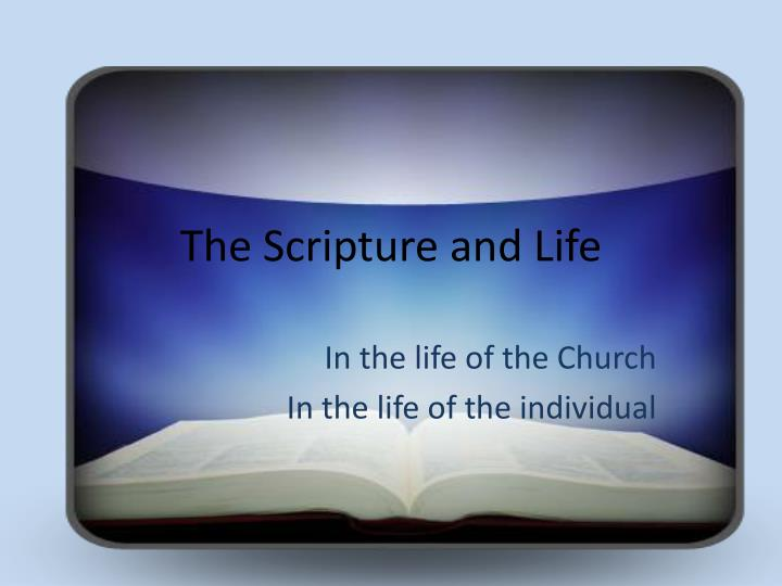 the scripture and life n.