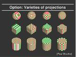 option varieties of projections