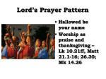 lord s prayer pattern