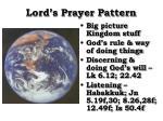 lord s prayer pattern1
