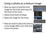 using a photo as a texture image