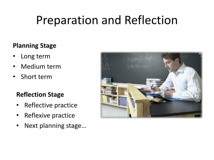 preparation and reflection n.