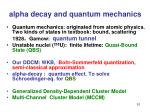 alpha decay and quantum mechanics