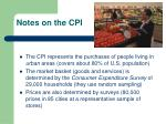 notes on the cpi