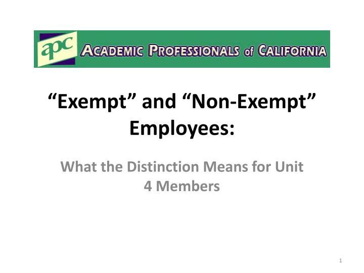 exempt and non exempt employees n.