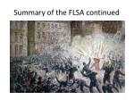 summary of the flsa continued1