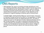 ons reports