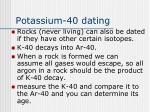 potassium 40 dating