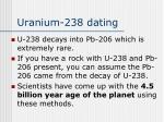 uranium 238 dating