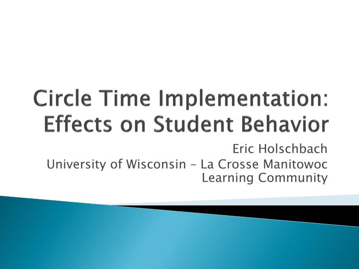circle time implementation effects on student behavior n.