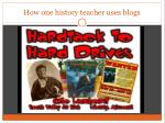 how one history teacher uses blogs
