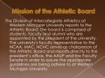 mission of the athletic board