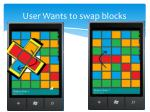 user wants to swap blocks1