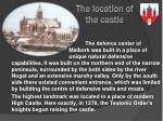 the location of the castle