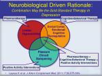 neurobiological driven rationale combination may be the gold standard therapy in depression