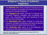 seligman s theory of authentic happiness