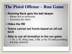 the pistol offense run game1