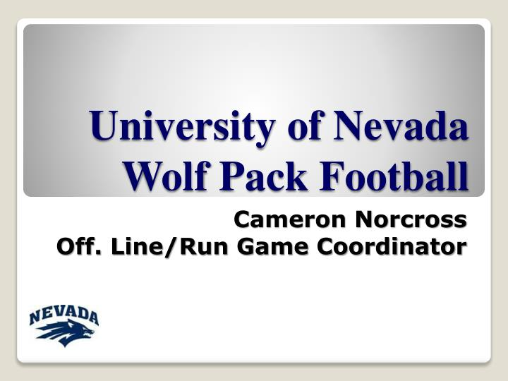 university of nevada wolf pack football n.