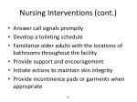 nursing interventions cont
