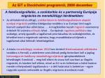 az eit a stockholmi programr l 2009 december
