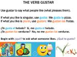 the verb gustar