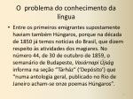 o problema do conhecimento da l ngua1