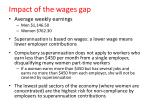 impact of the wages gap