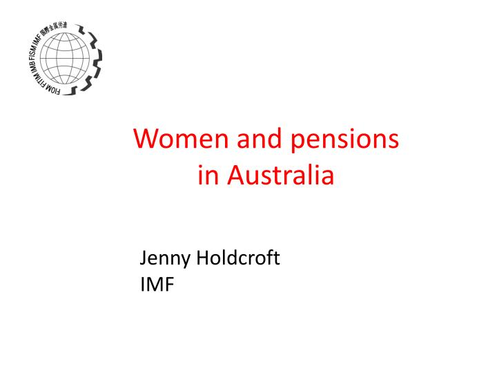 women and pensions in australia n.