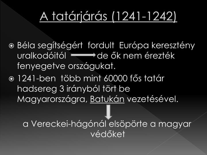 A tatárjárás (1241-1242)