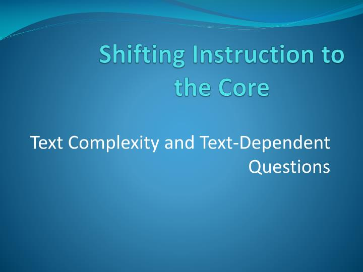 shifting instruction to the core n.
