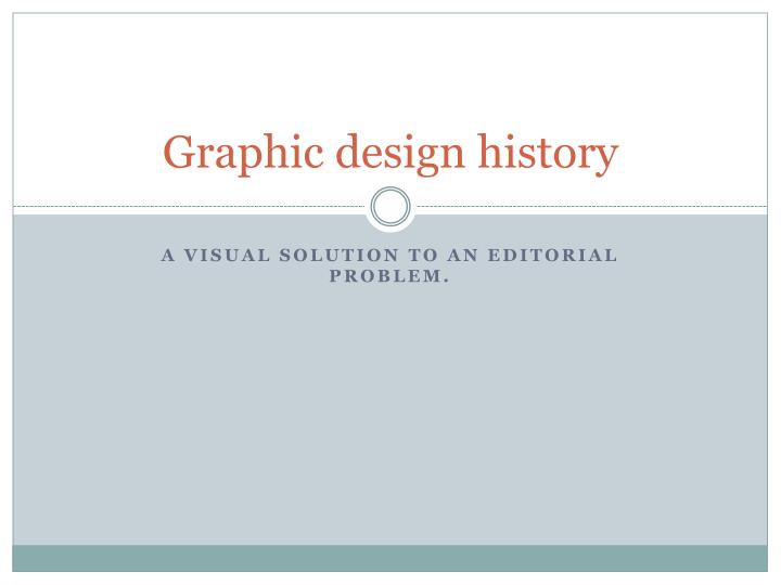 graphic design history n.