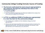 community college funding formula source of funding