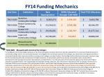 fy14 funding mechanics