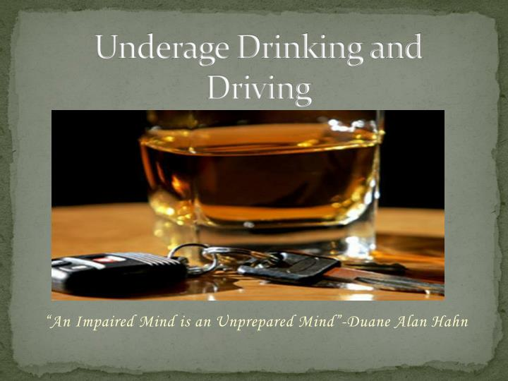underage drinking and driving n.