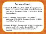 sources used