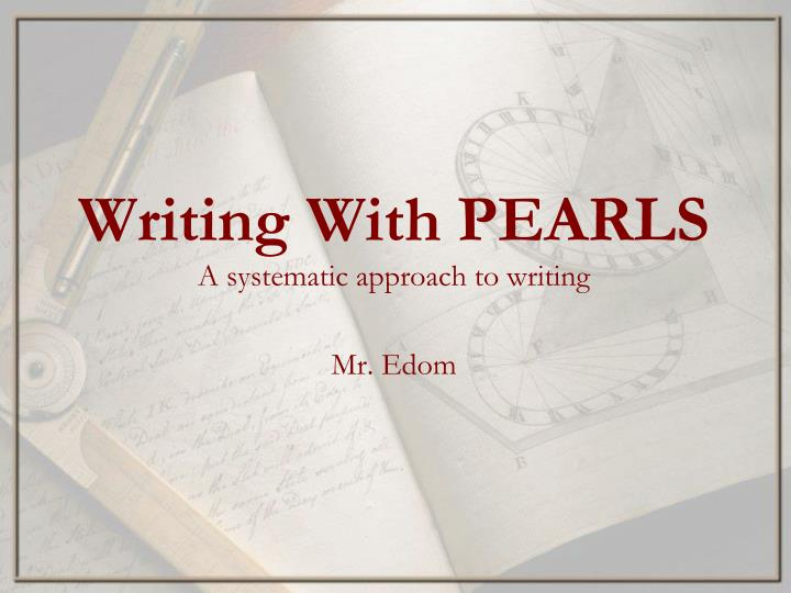 writing with pearls n.