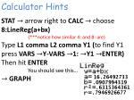 calculator hints