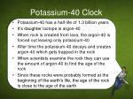 potassium 40 clock