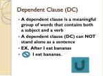 dependent clause dc