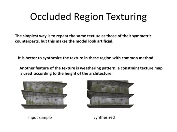 Occluded Region Texturing