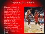olajuwon to the nba