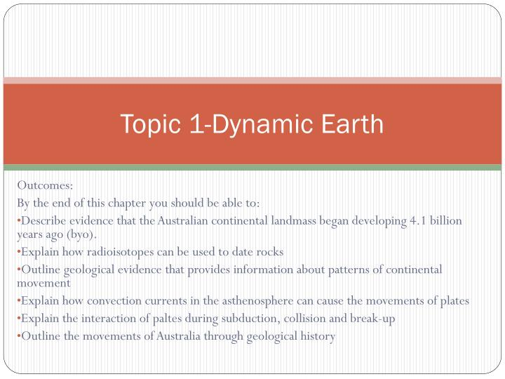 topic 1 dynamic earth n.