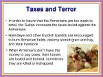 taxes and terror