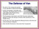 the defense of van