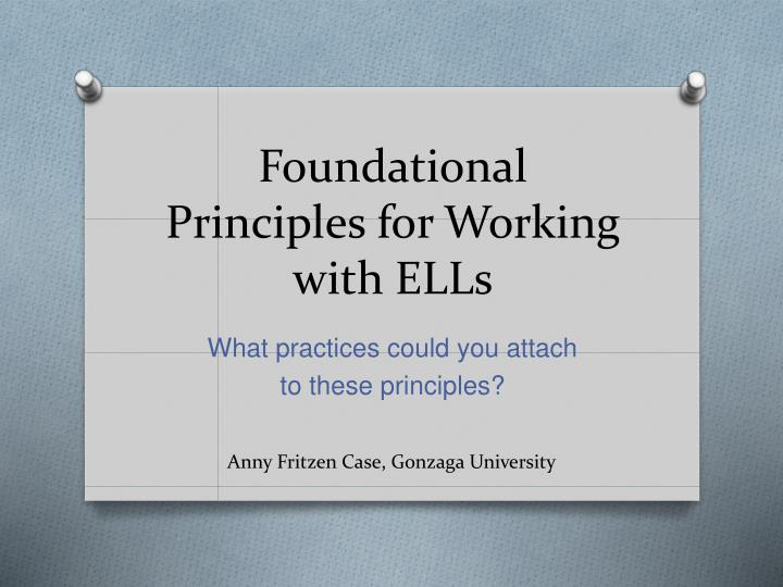 foundational principles for working with ells n.