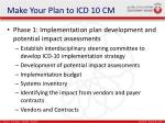 make your plan to icd 10 cm