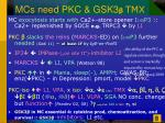 mcs need pkc gsk3 tmx