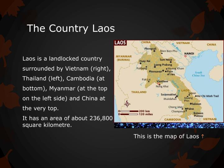 The country laos