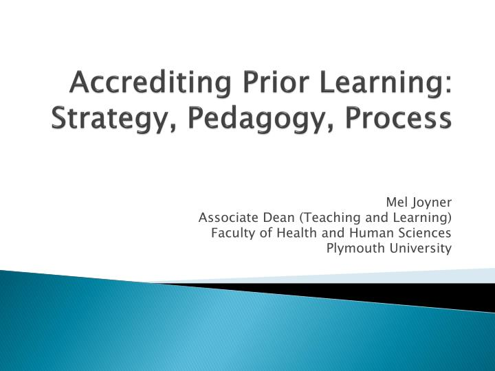 accrediting prior learning strategy pedagogy process n.