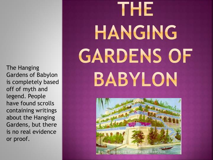 the hanging gardens of babylon n.